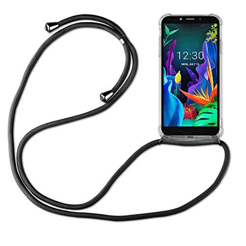 betterfon | LG K20 2019 Handykette Smartphone Halskette Hülle mit Band - Schnur mit Hülle zum umhängen Handyhülle mit Kordel zum Umhängen für LG K20 2019 Schwarz