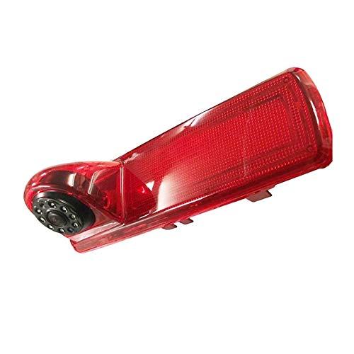 KCSAC Tercera lámpara de parada Cámara de vista trasera Ajuste para Opel Vivaro Ajuste para Renault TRAFIC 2014 8light Night Vision Light Light Aparcamiento Reversa Cámara de respaldo