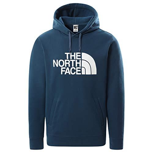 The North Face - Pullover con Cappuccio Half Dome Uomo - Monterey Blue, M