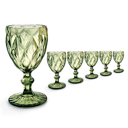 Copa Labrada Verde - (Pack de 6) - cristal