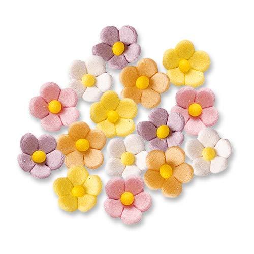 Günthart Zuckerblumen | 90 kleine bunte Zuckerblumen in den pastell Farben gelb | rosa | weiß | orange | lila