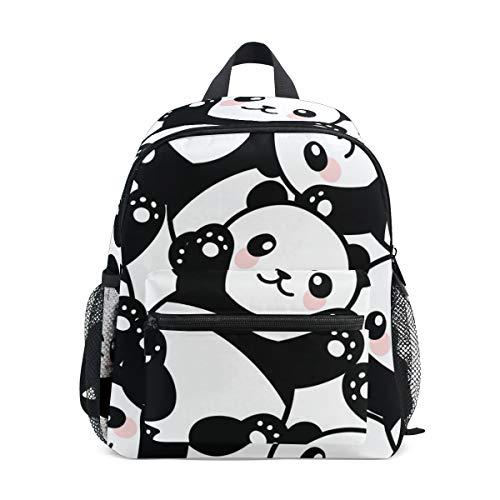 Mochila escolar para niños con correa en el pecho, coloridos unicornios, bolsa para libros para niños y niñas Blanco Panda 025 talla única