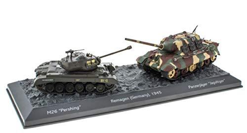 IXO/ALTAYA/ATLAS World of Tanks Panzerset Remagen Jagdtiger vs. M26 Pershing Fertigmodelle 1:72