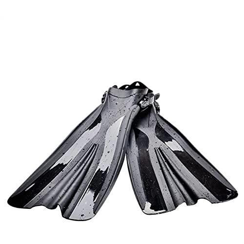 GDYJP Aletas de natación Aletas Adultas Aletas de Buceo Snorkel Pie albarojas Entrenamiento Piscina Novice Equipo Sumergible (Color : Black, Tamaño : 5-9)