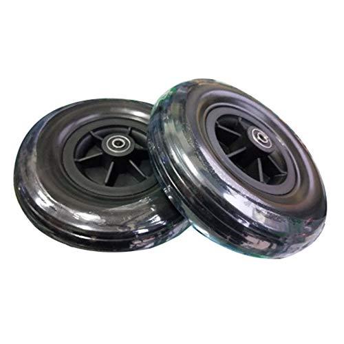 YSJX 8inch/200mm Ruedas Delanteras Accesorios para Sillas de Ruedas Scooters Electricas,Rueda Universal de Repuesto para Silla de Ruedas,Fácil de Deslizar & Instalar,2 Piezas
