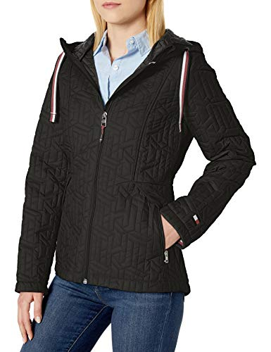 black quilted jacket - 1