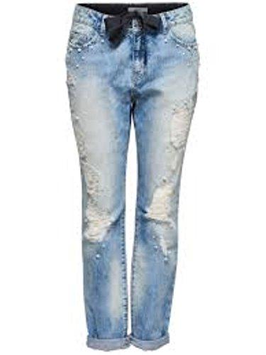 ONLY Damen Hose blau Denim