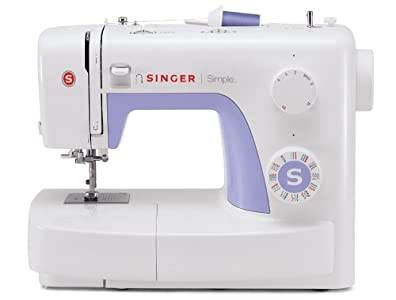 SINGER | Simple 3232 Sewing Machine with Built-In Needle Threader, & 110 Stitch Applications- Perfect for Beginners - Sewing Made Easy