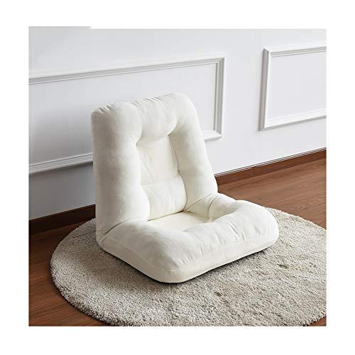 XinQing-sofá Perezoso Lazy sofá Tatami habitación Individual sofá pequeño Plegable Ventana saliente Cama multifunción Silla Perezosa (Color : White)