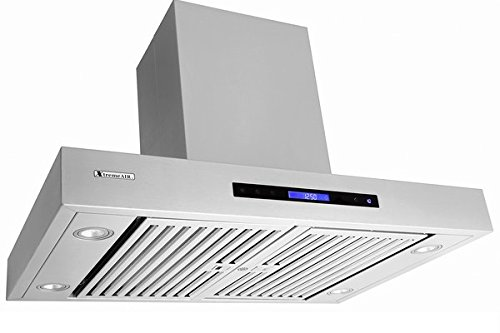 """XtremeAir Pro-X Series PX06-W42, 42"""" Wide, Easy Clean swing-able baffle Filters, Stainless Steel, Wall Mount Range Hood"""