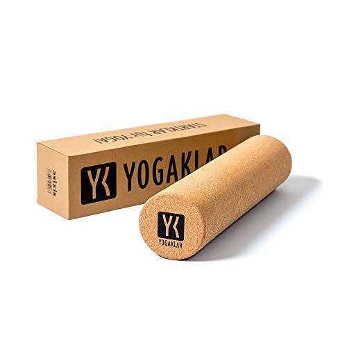 YOGAKLAR Faszien-Rolle aus Naturkork für eine Intensive Eigenmassage – nachhaltige umweltfreundliche und plastikfreie Yoga-Nackenrolle für die Faszienarbeit und zur Muskelentspannung