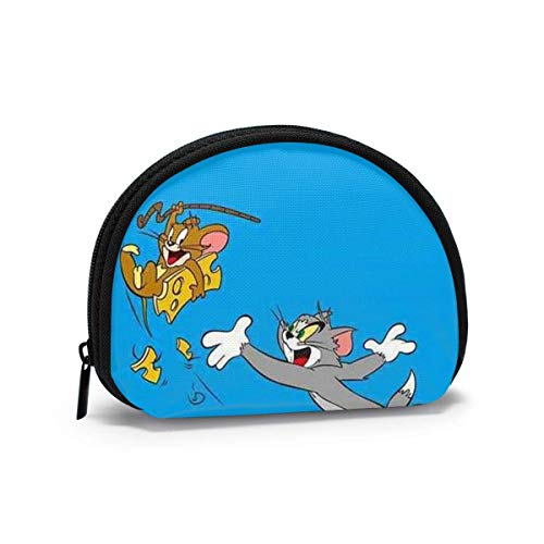 Coin Purse Change Wallet, Cute Tom and Jerry Coin Pouch Portable Shell Storage Bag for Women Girls-one_Color-
