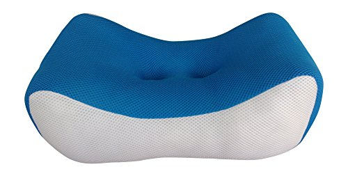 Lumbar Back Support Cushion Pillow for Lower Back Pain | Ache. Ergonomic Backrest For Home, Office Chair, Sofa, Car & Plane. Also Use As Foot-Rest | Leg Cushion | Neck Pillow (Small-Blu)