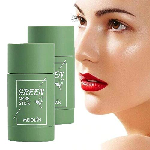 Green Tea Purifying Clay Stick Mask Anti-Acne Deep cleansing, Oil-control Beauty, Hydrating Blackhead Remover Facial Mask Repair and Shrink Pores