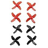 Baoblaze Kit di Pezzi di Ricambio per Eliche CW CCW A 8 Pale A 4 Pale per HS210 JJRC H36 E010 T36 NIHUI NH010 - Rosso Nero