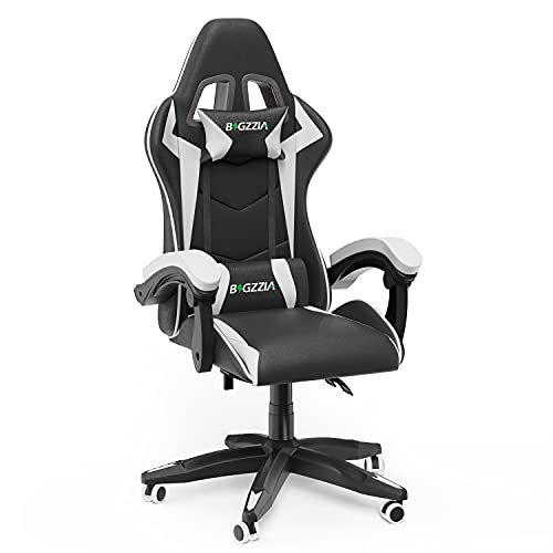 Gaming Chair Office Chair (Black and White)