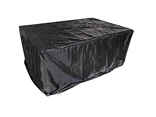 RayGar 11 Piece 10 Seater Rattan Cube Set Cover Black