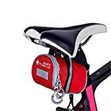 JOAN'S Bike Kits:Saddle Storage Bicycle First Aid Kit, 32 Pieces Include Lightweight Water-Resistant Saddle Bag for Road or Mountain Bike and a Bicycle Light (Batteries not Included)