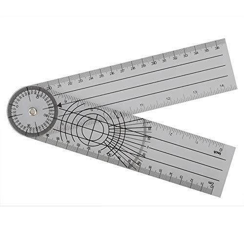 Herramienta de medición Multi-Regla Goniómetro espinal Regla ángulo 5pcs 360 Profesional Grado