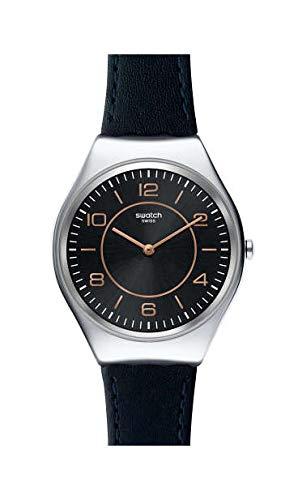 Swatch Reloj Analógico para Mujer de Cuarzo con Correa en Cuero SYXS110