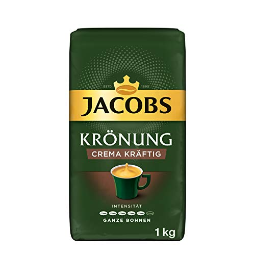 Jacobs Kaffeebohnen Krönung Crema kräftig, Bohnenkaffee, 1 kg