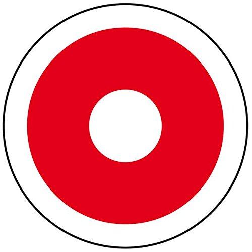 LEMAX® Feuerwehrzeichen Brandmelder gemäß DIN 14623 Folie selbstklebend, Ø 65 mm (Feuermelder, Rauchmelder, Brandschutzzeichen) wetterfest