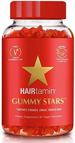 HAIRtamin Star Gummy Hair Vitamins Biotin Gummies Vegan Hair Supplement Multivitamin for Fast product image
