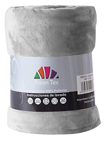 Foren Tex - Manta de sedalina, (M-3097), Ultra Suave, microseda, para abrigarte con Estilo y Confort, 150 x 200 cm No Suelta Pelo. para sofá y Cama.