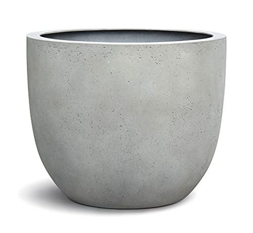 VAPLANTO® Pflanzkübel Egg Pot 60 Beton Hell Grau Rund XL * 55 x 55 x 46 cm * 10 Jahre Garantie