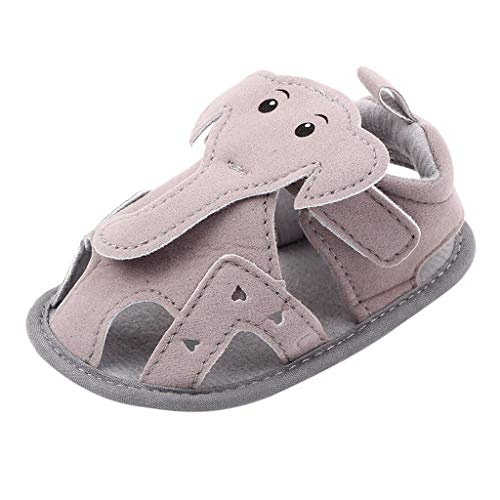 Infant Baby Girls Boys Sandals Cartoon Elephant Closed-Toe Breathable Soft Sole Toddler First Walker Shoes