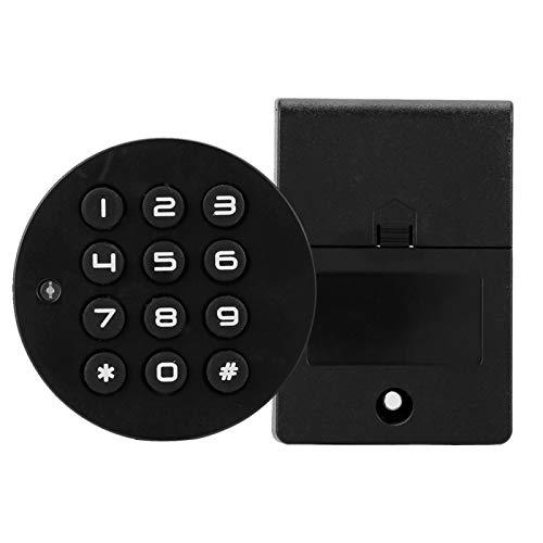 Cuifati Bloqueo de código electrónico Botones mecánicos de 12 Teclas Bloqueo de contraseña Inteligente para zapateros, gabinetes de Oficina, Cajas de periódicos, gabinetes de Metal