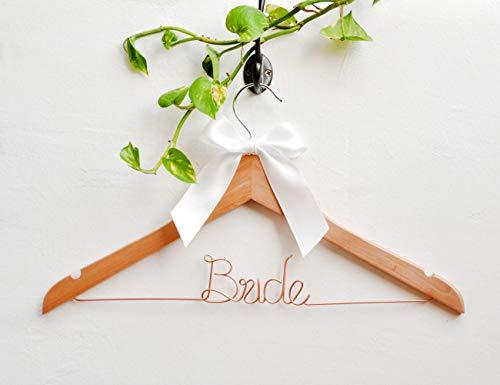 Qui556 Brautkleiderbügel für Hochzeit, Brautkleid, Brautschmuck, Hochzeitskleid, Brautschmuck, Hochzeitskleid, personalisierbar