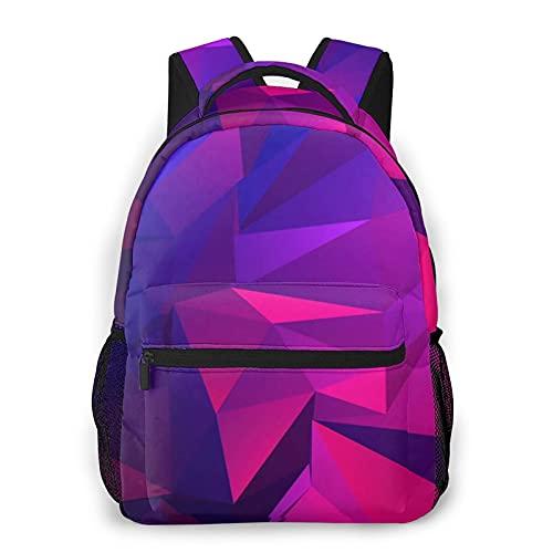 Mochila geométrica Pink2 Causal Daypack Vintage Colegio Bolsas de Escuelas Multiusos Portátil Mochila para Escuela/Negocios/Trabajo/Hombres/Mujeres