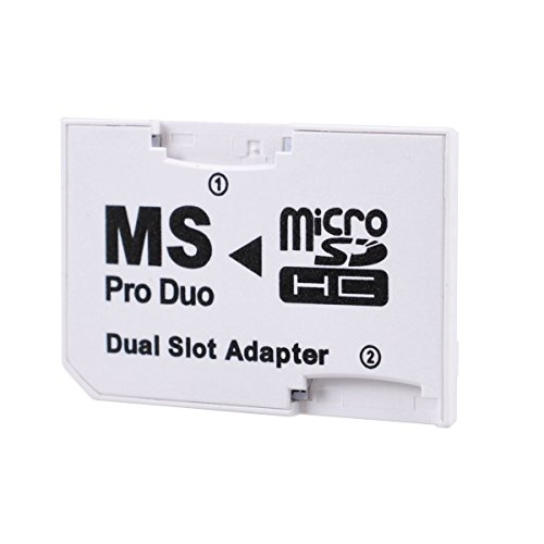 leagy weiß Dual Slot PSP Memory-Stick Pro Duo Adapter