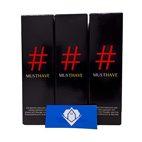 3x Must Have # Hashtag 10ml Aroma | Vapebude Akkusleeve Akkuwrap Bundle