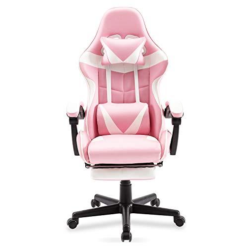 Pink Recliner Gamer Computer Chair