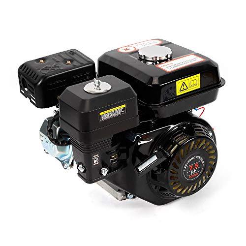 7.5 PS/ 4-Takt Benzinmotor Standmotor Motor, Kartmotor Luftgekühlter Schwerkraftzufuhr Industrie Motor 5.1 KW, für Pumpen und Boote (schwarz)