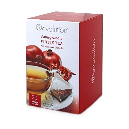 Revolution Tee - Weißer Tee mit Granatapfel, 20 Pyramidenteebeutel
