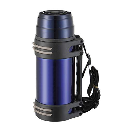 Auto-Reisekessel, 850 ml, 24 V, tragbarer Edelstahl-Wasserkocher für Auto, Kaffeebecher mit Zigarettenanzünder-Ladegerät, elektrischer Wasserkocher für heißes Wasser, Kaffee, blau, L