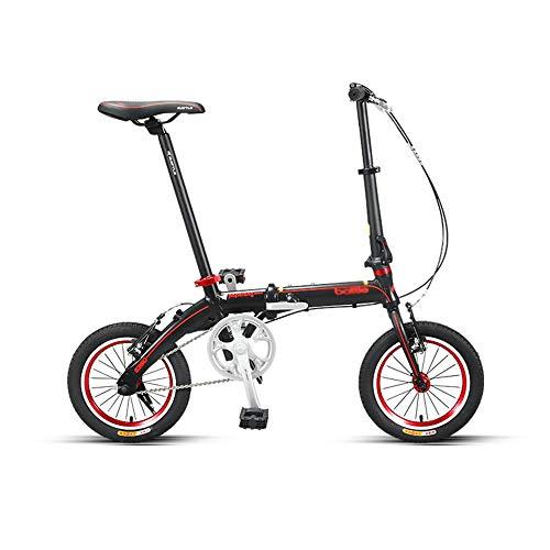 Bicicleta, Bicicleta PortáTil de 14 Pulgadas, Bicicleta de Viaje de Ocio de la Ciudad, Marco Plegable de AleacióN de Aluminio, Soporte de Carga Fuerte, para Uso de Adultos/Estudiantes/A