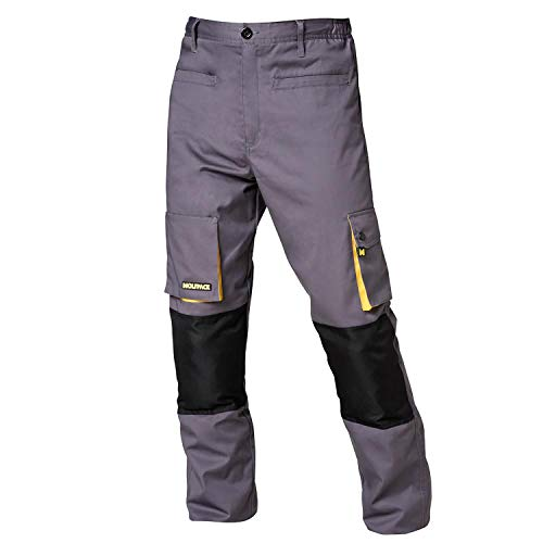 Wolfpack 15017100 - Pantalon de trabajo Gris/Negro, Talla 46/48 L
