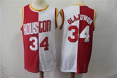 SHR-GCHAO Jersey para Hombres - NBA Retro Houston Rockets # 34 Hakeem Olajuwon Jersey, Fitness Humedad Wicking Flood, Sin Mangas, Camisa De Baloncesto Redondo,XXL(185~190cm)