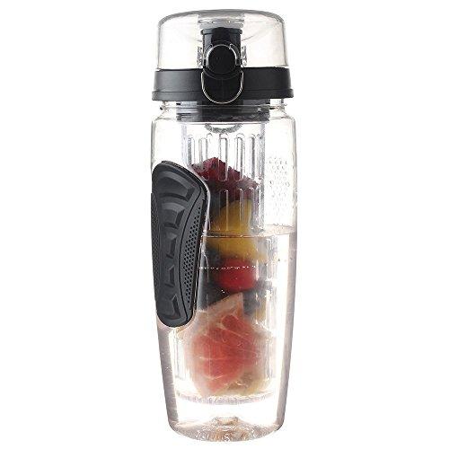 SYT Water cup Sports Citron Bouteille d'eau Tour randonnée Portable d'escalade Camp Bouteilles, Noir
