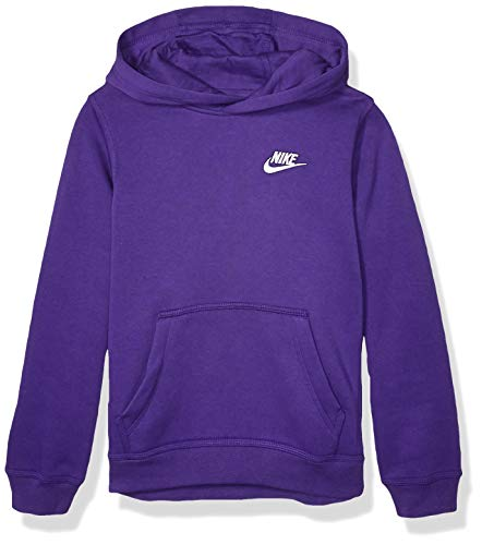 Nike Boy's NSW Pull Over Hoodie Club, Court Purple/White, X-Small