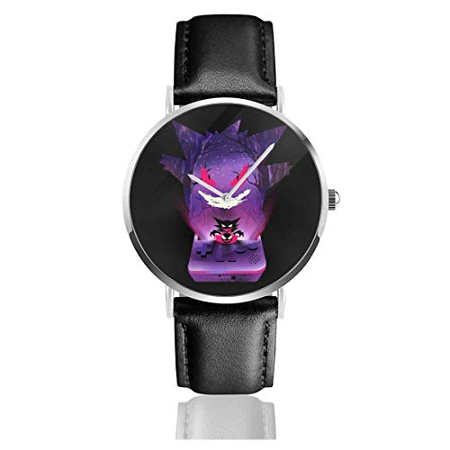 Unisex Business Casual Monster of The Pocket Gengar Console Silhouette Relojes Reloj...
