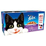Felix Adult Cat Mixed Selection in Jelly Wet Food Pouch, 40 Pouches, 40 x 100 g