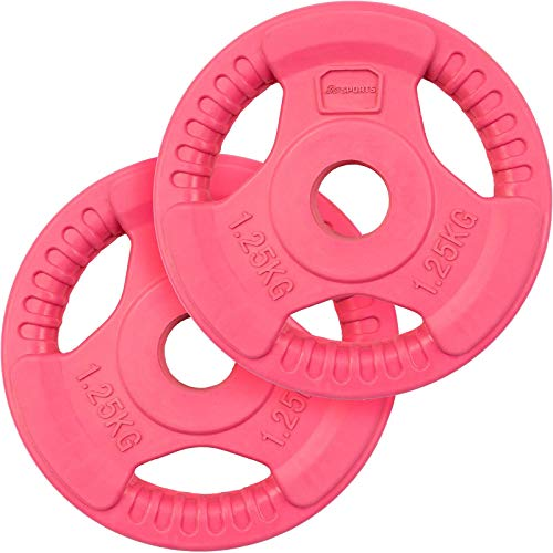 ScSPORTS 2,5 kg Hantelscheiben-Set, Gummi, 2 x 1,25 kg Gewichte, 30/31 mm Bohrung