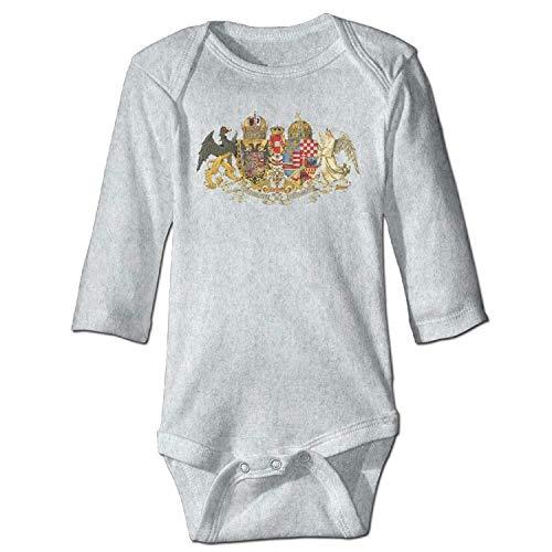Unisex Toddler Bodysuits Antique Coat of Arms Girls Babysuit Long Sleeve Jumpsuit Sunsuit Outfit Ash