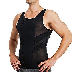 professional Body compression tank top with tummy control MOLUTAN men's slimming vest for corset belt …
