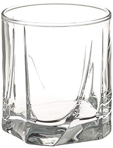 Dajar 3Baja Vasos 253ml Pasabahce Luna, Transparente, 9,5x 9,5x 8,4cm, 3Unidades de Medida